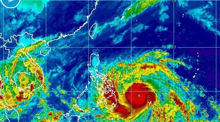 Haiyan Super Typhoon Infrared
